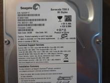 Seagate ST3808110AS 9BD131-303 FW:3.AAE WU 80gb Sata