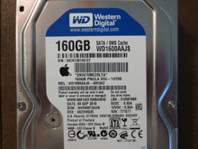 Western Digital WD1600AAJS-40H3A2 DCM:HHRNNT2AAN Apple#655-1470D 160gb Sata