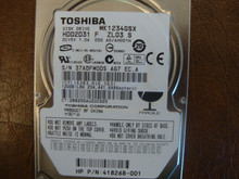 Toshiba MK1234GSX HDD2D31 F ZL03 S 050 A0/AH001H 120gb  Sata (Donor for Parts)