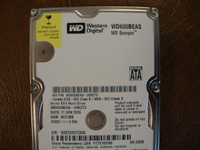 WD WD600BEAS-00KZT0 DCM:HCTJBB 60gb Sata   (Donor for Parts)