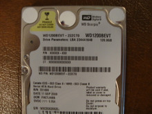WD WD1200BEVT-22ZCT0 DCM:FHCTJHBB 120gb Sata (Donor for Parts)