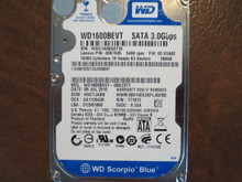 WD WD1600BEVT-08A23T1 DCM:HACTJABB FW:02.01A02 160gb Sata (Donor for Parts)