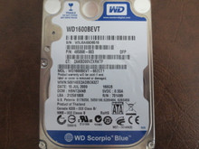 WD WD1600BEVT-60ZCT1 DCM:HBNT2ANB 160gb Sata (Donor for Parts)