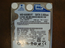 WD WD1600BEVT-88ZCT0 DCM:FHNTJBBB 160gb Sata (Donor for Parts)