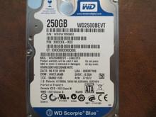 WD WD2500BEVT-24A23T0 DCM:HHCTJANB 250gb Sata (Donor for Parts)