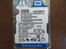 WD WD3200BPVT-24ZEST0 DCM:HHMTJHK 320gb Sata (Donor for Parts)