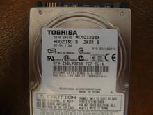 TOSHIBA MK1032GSX HDD2D30 S ZK01 S 010 D0/AS021G SATA 100GB