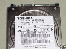 TOSHIBA MK8032GSX, HDD2D32 B ZK01 S, 80GB, SATA 250521348178