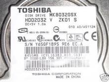 TOSHIBA MK8032GSX, HDD2D32 V ZK01 S, 80GB, SATA 360196859173