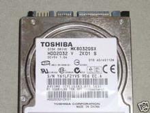 TOSHIBA MK8032GSX, HDD2D32 V ZK01 S, 80GB, SATA