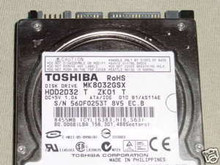 TOSHIBA MK8032GSX, HDD2D32 T ZK01 T, 80GB, SATA 360202342973