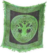"Tree of Life altar cloth 18"" x 18"""