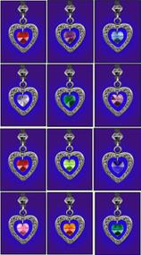 Birthstone Heart Pendants