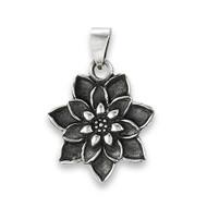 Sterling Silver Bursting Lotus Pendant: