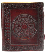 "Pentagram leather w/ latch 4 1/2"" x 5"""