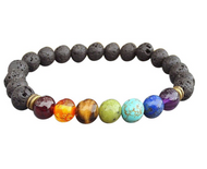 Chakra Bracelets with lave rock