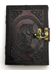 Unicorn Journal leather blank book