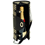 Picnic At Ascot Wine Purse in Black Diamnod | James Anthony Collection