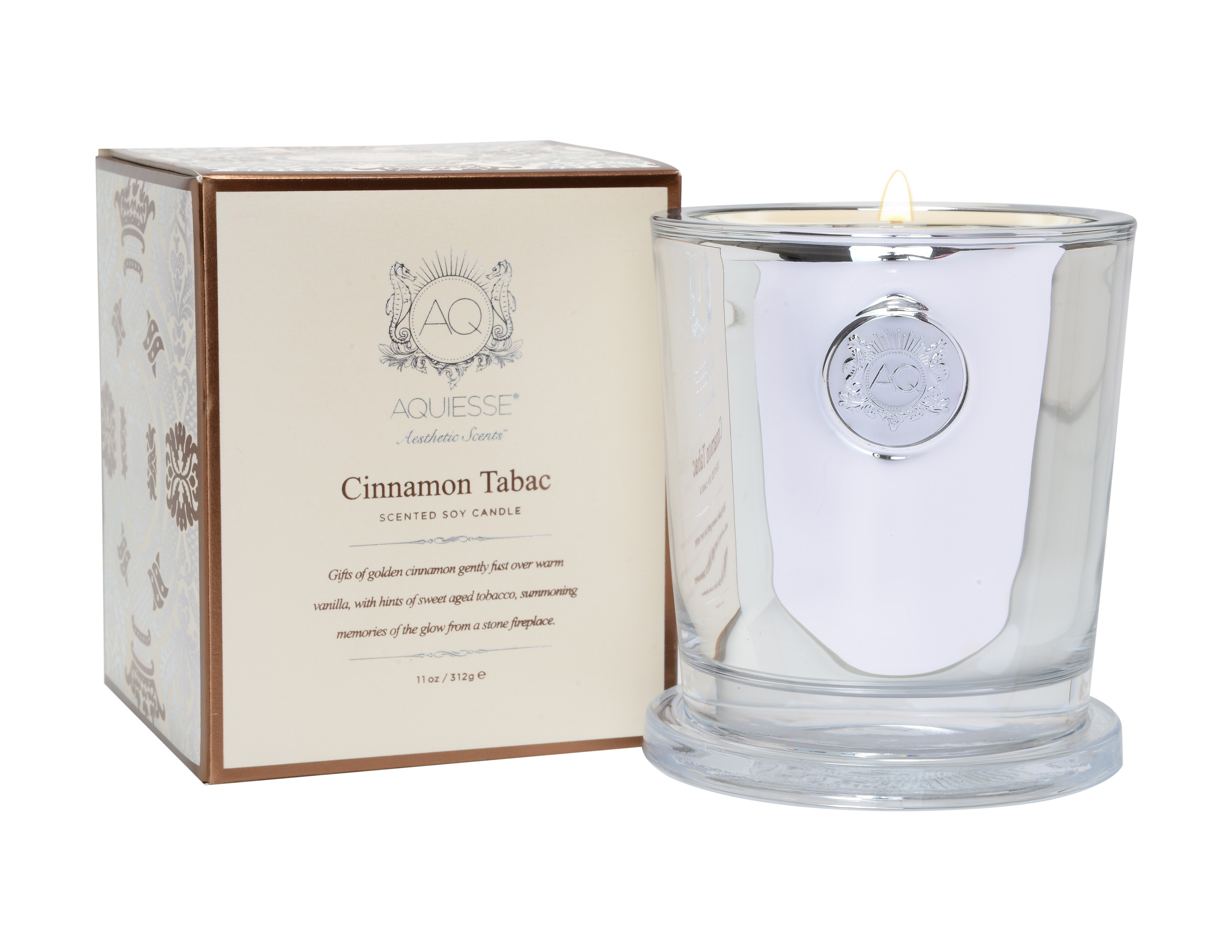 Aquiesse Cinnamon Tabac Large Holiday Candle | James Anthony Collection