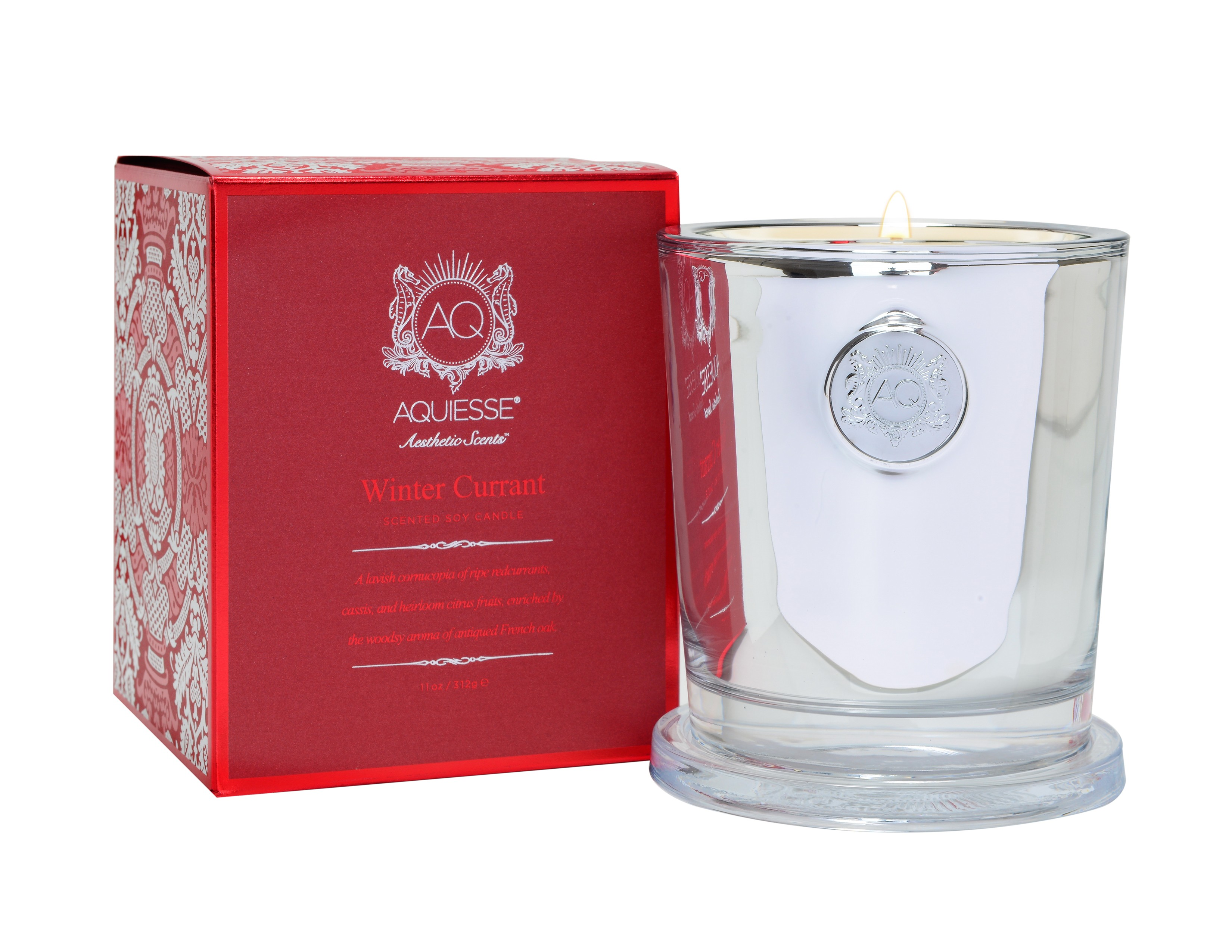 Aquiesse Winter Currant Large Holiday Candle | James Anthony Collection
