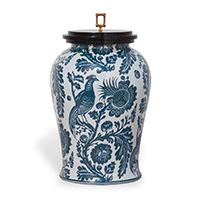 Blue and White Porcelain Scalamandre Arcadia Indigo Jar (Acas-23002) | James Anthony Collection