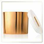 Thymes Frasier Fir Gilded Collection Gold 3-Wick Candle | James Anthony Collection