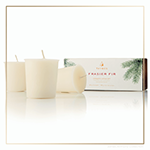 Thymes Frasier Fir Heritage Collection Votive Candles - Set of 3 | James Anthony Collection