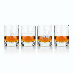 Viski Admiral Etched Whiskey Label Crystal Tumblers | James Anthony Collection