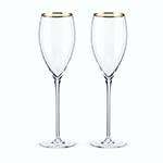Viski Belmont Gold Rimmed Crystal White Wine Glasses | James Anthony Collection