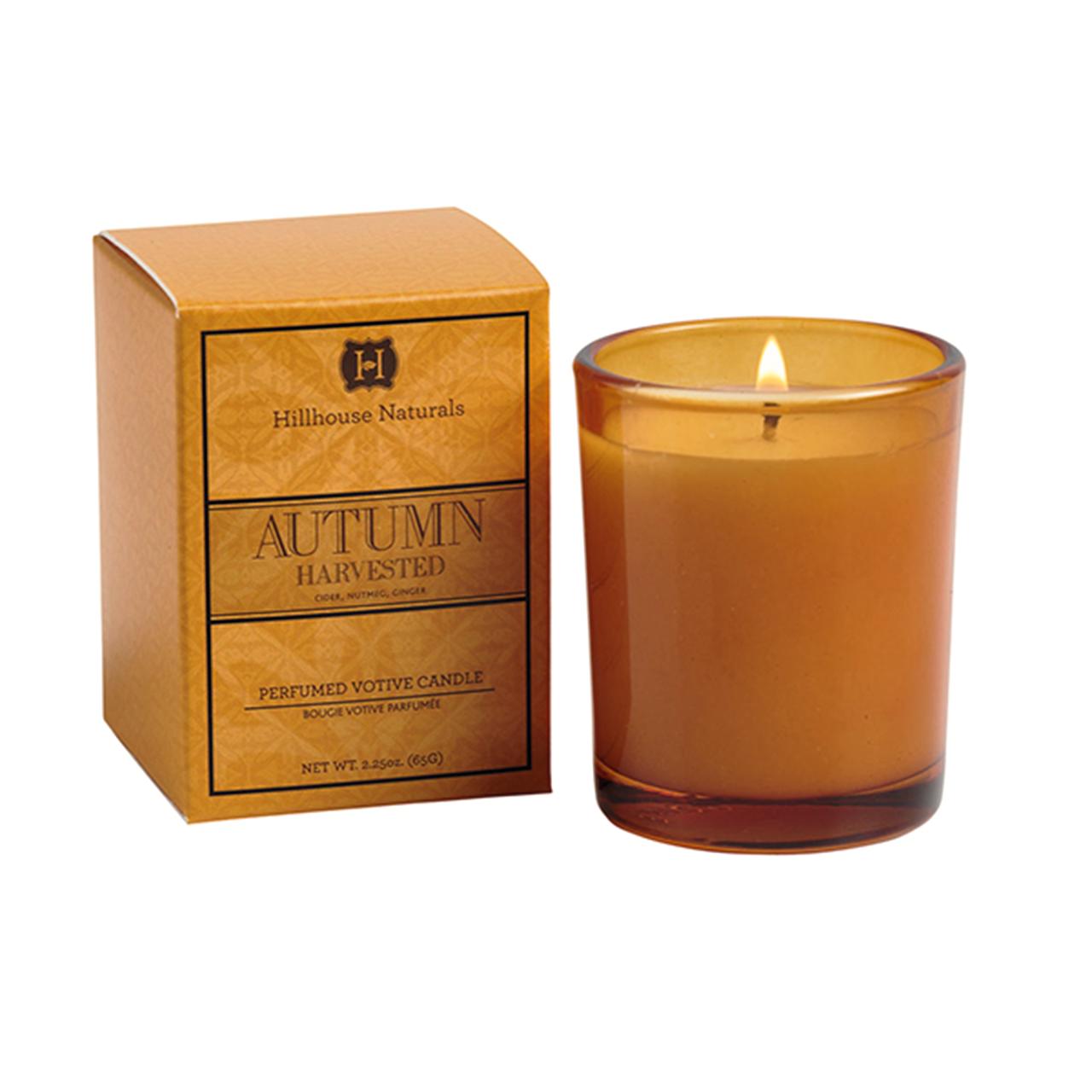 Hillhouse Naturals Autumn Harvested Votive Glass Candle