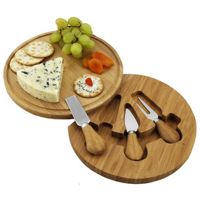Feta Bamboo Cheese Board Set with 3 Tools