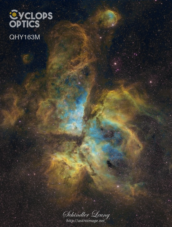 Impressive non-stacked SHO Eta Carina with QHY163M