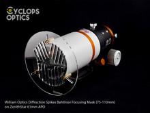 William Optics Diffraction Spikes Bahtinov Focusing Mask (75-110mm)
