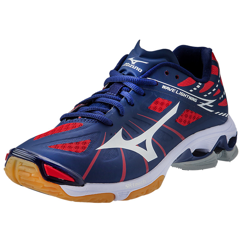 Red And Black Mizuno Volleyball Shoes