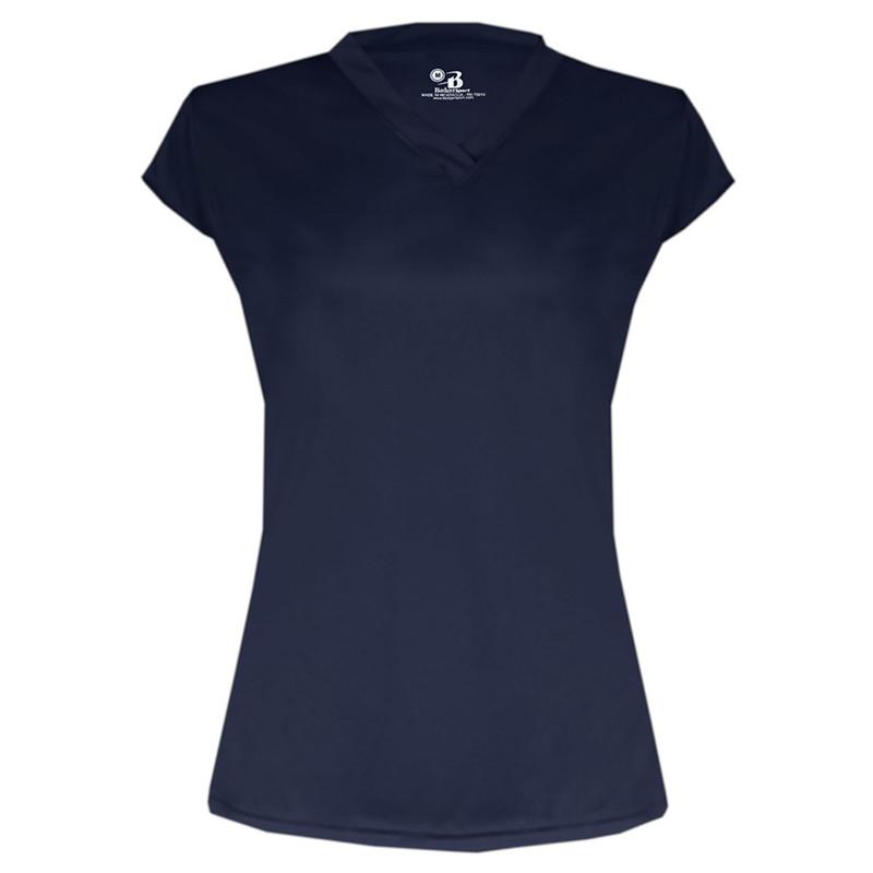 Badger Women's Solid Cap Jersey - Navy