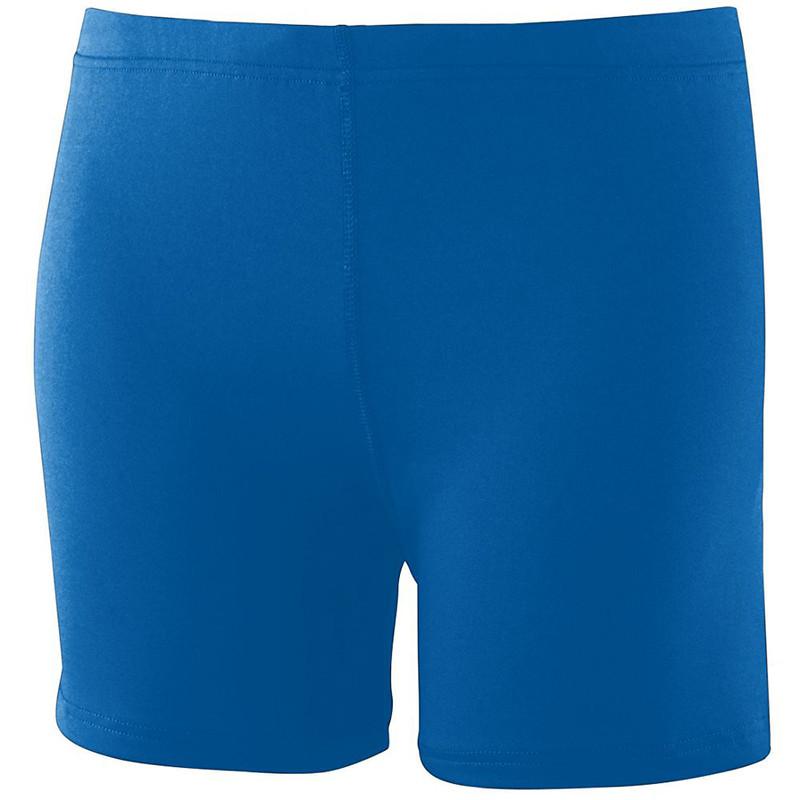 Augusta Women's Poly Spandex Shorts - Royal