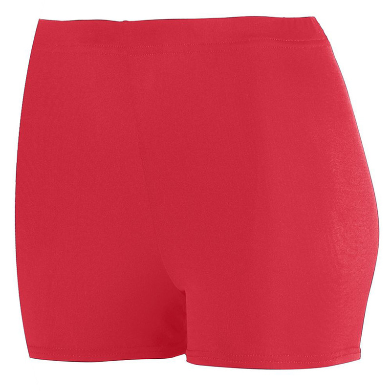 Augusta Women's Poly Spandex Shorts - Red