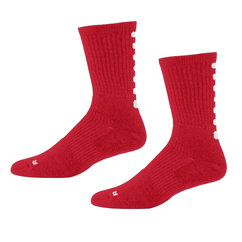 Augusta Color Block Crew Socks - Red