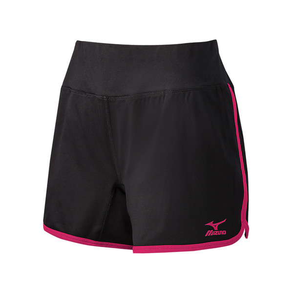 Mizuno Women's Elite 9 Training Short - Black/Pink