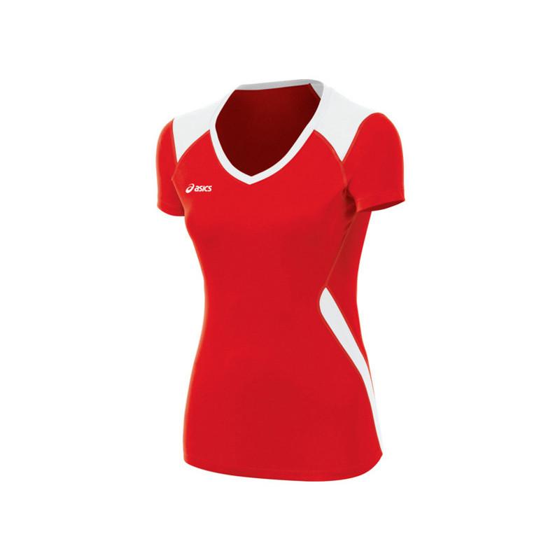 Asics Women's Jr. Set Jersey - Red/White