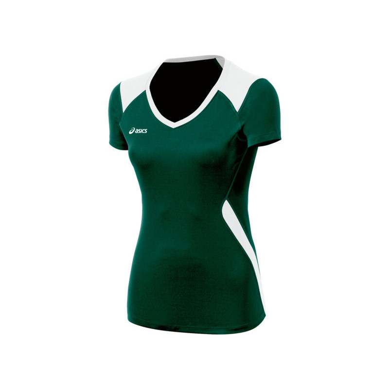 Asics Women's Set Jersey - Forest Green/White