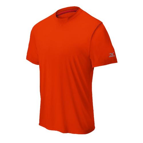 Mizuno Men's Comp Short Sleeve Crew- Orange