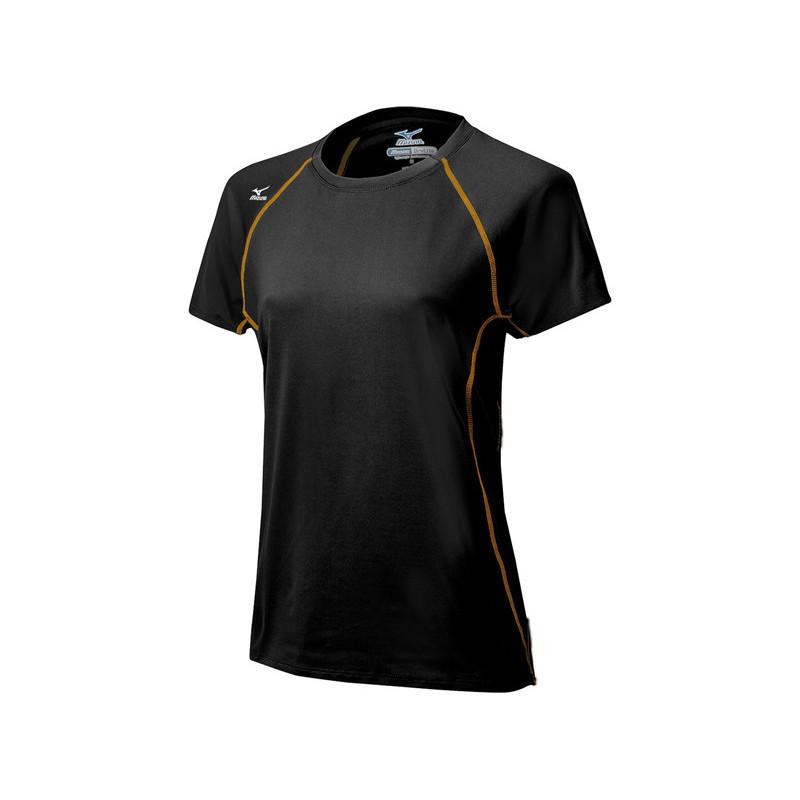 Mizuno Women's Balboa 3.0 Short Sleeve Jersey - Black/Orange