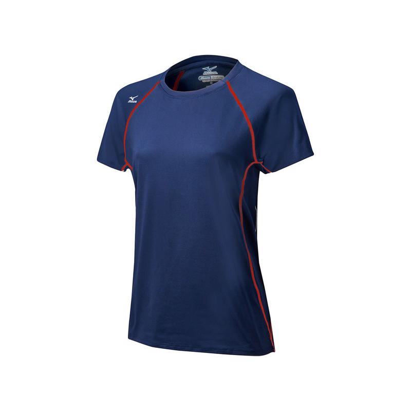 Mizuno Women's Balboa 3.0 Short Sleeve Jersey - Navy/Red