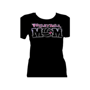 Volleyball Mom Rhinestone T-Shirt