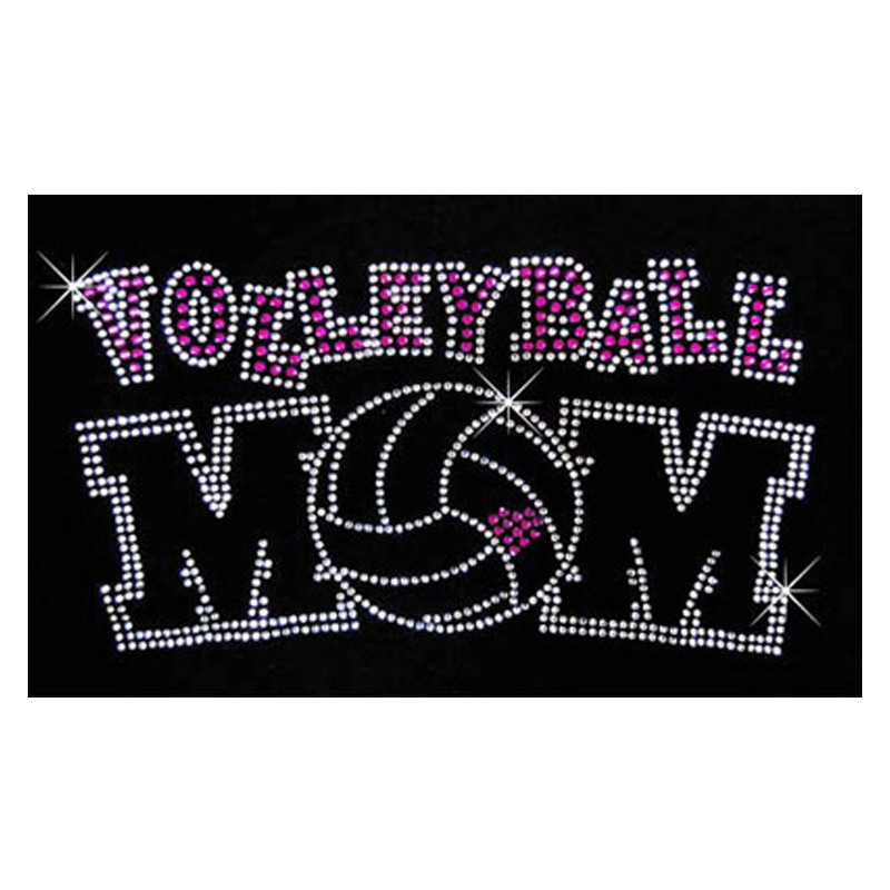 Volleyball Mom Rhinestone T-Shirt
