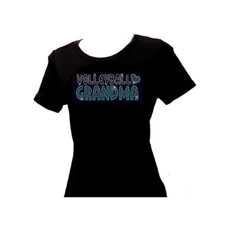Volleyball Grandma Rhinestone T-Shirt