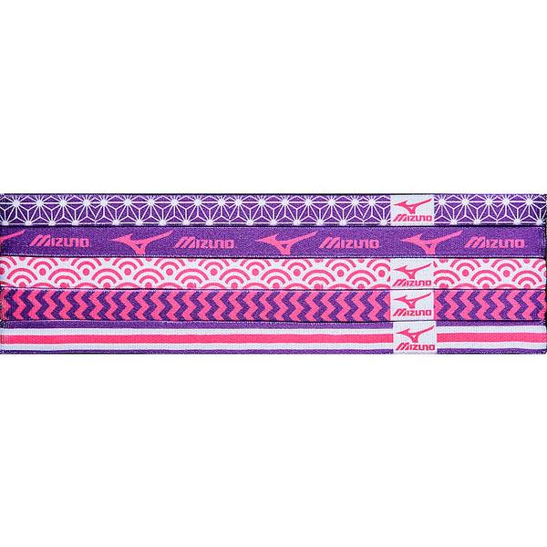 Mizuno Triumph Headbands- Shocking Pink/Electric Purple
