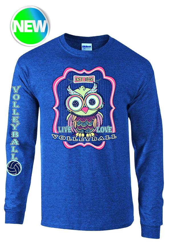 VB Owl LS T-Shirt- Navy