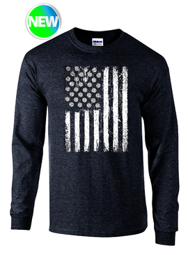 USA VB Flag LS- Black Heather